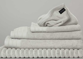 Bemboka Jacquard Hand Towels ( 2 x Dove, , 2 x Ink, 2 x Charcoal )