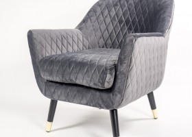 Graphite Grey Matelasse Chair