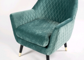 Jewel Green Matelasse Chair