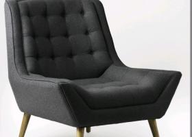 Moe Club Chair – Slate Felt